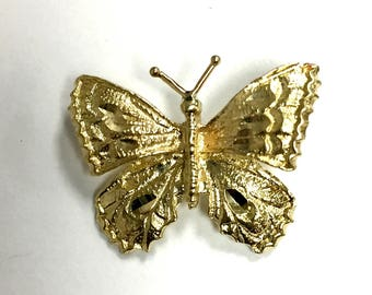 Vintage Butterfly Pendant 14k Yellow Gold
