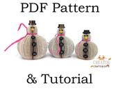 Snowman PDF Tutorial and Pattern - Book Art Snowman - Set of 3 - Paper cutting Pattern - Instructions - photos - Instant Download