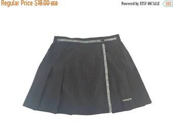 BLOW OUT SALE Vintage Black Wrap Tennis Skirt