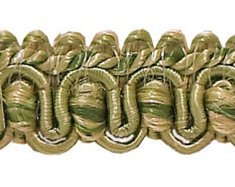 "Olive Green, Champagne 1/2"" Imperial Ii gimp Braid Style# 0050ig Color Sagegrass - 4567 (sold by The Yard)"