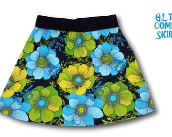 Big Groovy Flowers  Comfy Skirt