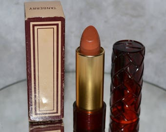Vintage 70s Avon About Town Tanberry Lipstick Collectible Cosmetic w Box