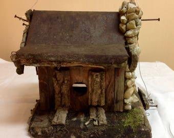 Rustic Folk Art Bird House