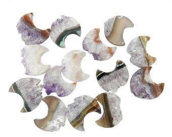 10% off July 4th Amethyst Moon Crescent - Petite Amethyst Slice Crescent - Wonder of Nature - Decor (BPS1-B3-08)