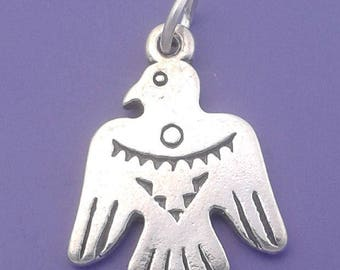 THUNDERBIRD Charm .925 Sterling Silver Native American INDIAN Pendant - lp1699