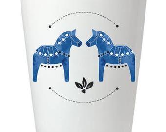 Cobalt Dala Horse Shot Glass