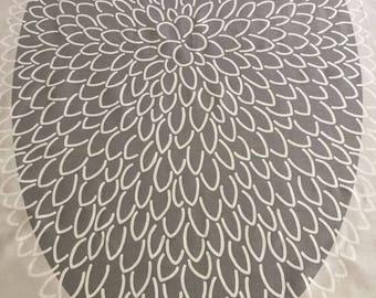 Tablecloth - Table Linens - Scandinavian fabric 100% Cotton canvas Rectangle Grey