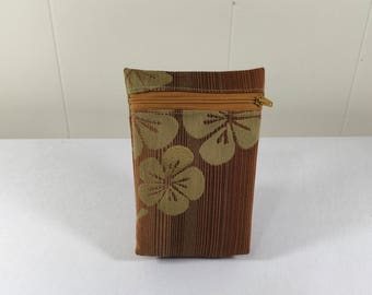 Zipper Pouch Bag, Unlined, made from Upcycled Upholstery Fabric Samples