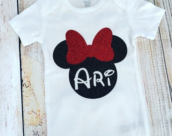 Personalized Minnie Mouse Onesie