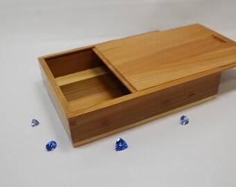 Wedding Photo Box, Wooden Photo Box, Sliding Top Box, Sliding Lid Box, Photo Box, Sliding Lid Photo Box, Sliding Top Photo Box, (st51106J)