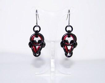 Polyhedron earrings