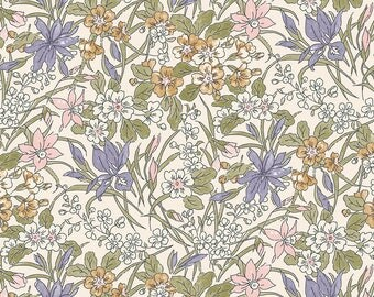Fabric -Liberty  - The English Garden - Ricardo, lilac - Quilters weight cotton