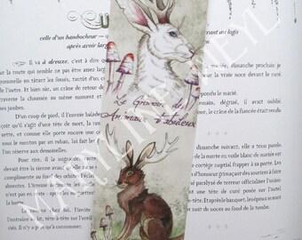 jackalope horned Hare rabbit bookmark