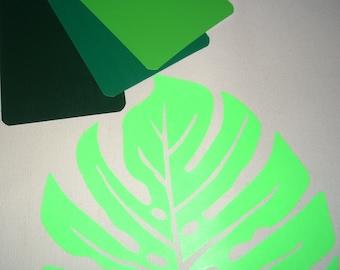 Iron on Monstera leaf appliqué