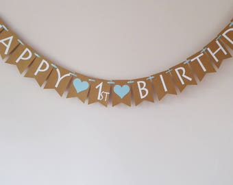 Happy 1st Birthday Bunting Banner Decoration