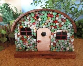 Fairy Garden House Bungalow Cottage Miniature OOAK Handmade Door Gnome Home