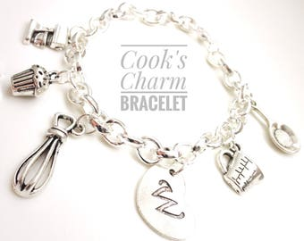 Cook's Charm Bracelet, Gift for Cook, Charm Bracelet, Gift for Mom, Baking Gift, Bakery Gift, Cooking Charms, Gift for Grandma