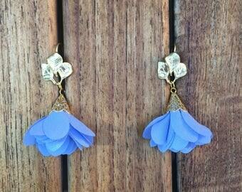 Periwinkle Blue Tulip Earrings