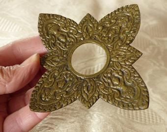 10 matching antique / vintage French bronze bobeche for candlesticks or to repurpose - PARIS maker - bronze restoration hardware
