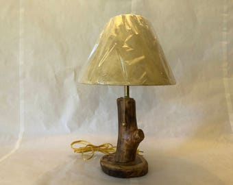 "8"" Colorado Aspen Tree Lodge Cabin Table Lamp with Shade"