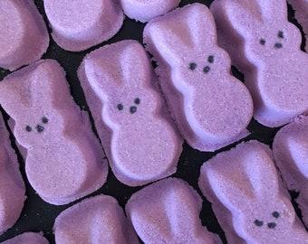 Marshmallow Scented Peeps Bath Bomb. Purple. Organic Ingredients . Made in Utah