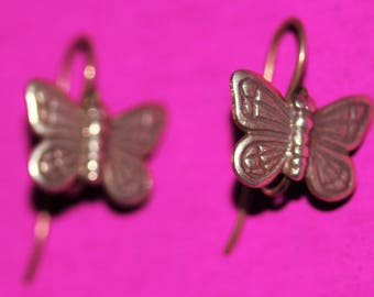 1 New Pair Sterling Silver Butterfly Earrings Ear Rings For Charms Nice Quality *Make an Offer*Offers Available On ALL Items*