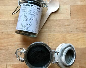 Tooth Powder / Natural Teeth Whitening + Cleaning Charcoal