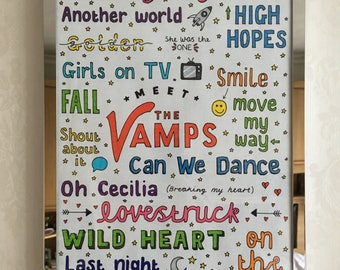 THE VAMPS POSTER // meet the vamps