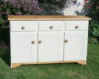 Pine Farrow and Ball Painted Sideboard/Shabby Chic