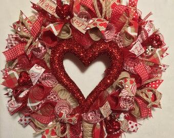 SALE Valentine Wreath, Valentine Wreaths, Valentines Day Wreath, Valentine  Wreaths, Valentineu0027s Day