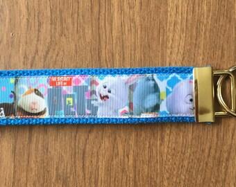 Secret Life of Dogs Key Chain Wristlet Zipper Pull