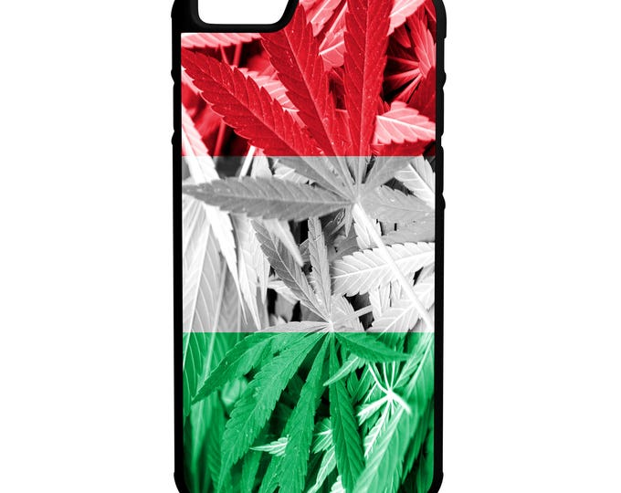 Italy Weed Flag Hybrid Rubber Protective Phone Case