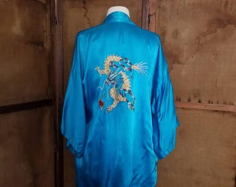 Vintage Embroidered Dragon Robe