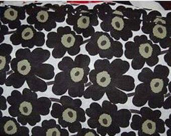 "SALE Marimekko black on white Mini Unikko cotton fabric, 28"" wide"