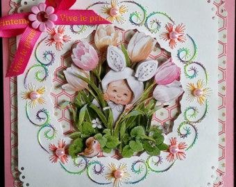 vivid spring map, morehead 3d Bunny