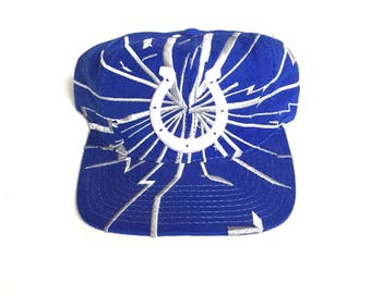 Starter indianapolis colts shatter cracked print Snapback Snap back Strapback hat One Size Adult Unisex wool