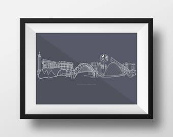 Newcastle Upon Tyne Print