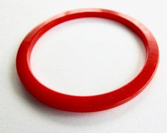 Red Bakelite Bangle