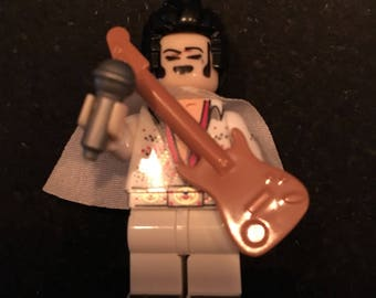 Elvis Presley - The King of Rock and Roll -Lego Compatible  / Custom Minifigure