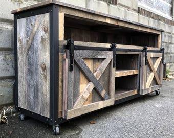 rustic tv stand etsy. Black Bedroom Furniture Sets. Home Design Ideas