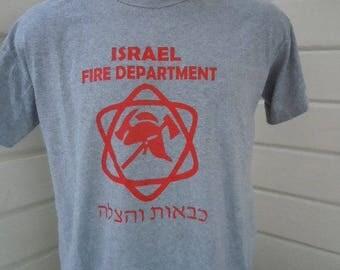 Size XL (48) ** Israeli Fire Department Shirt (Single Sided)