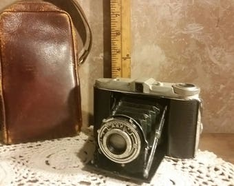 Isolette Camera with Leather Case