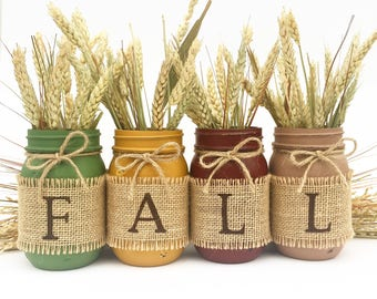 THE ORIGINAL Fall Mason Jars, Autumn, Home Decor, Fall Decor, Thanksgiving, Centerpiece, Fall Wedding, Farmhouse, Fall, Country, Harvest