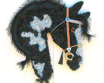 Paint Horse Head Wreath
