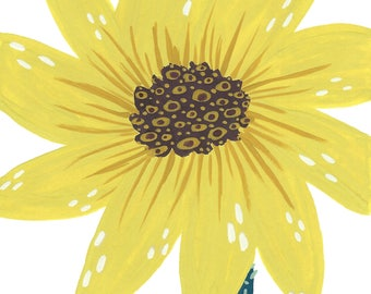 Sunflower - Blank Notecard - Greeting card