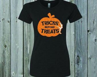 Tricks Before Treats Gymnast Fitted Tee