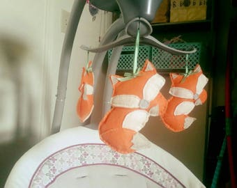 Baby bouncer or swing accessories set of 4
