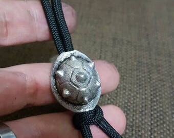 Horned Koopa pewter bead