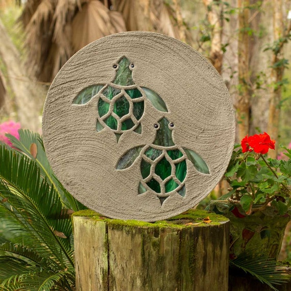 Baby Sea Turtles Hatchlings Stained Glass Stepping Stone #813
