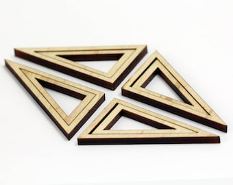 8 Concentric Right Triangle Wood Beads : Maple Plywood